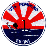 USS Pompano uniform patch
