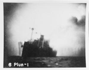 Kinai Maru listing after being hit by Plunger