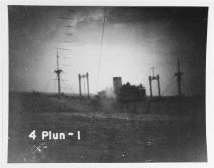 Kinai Maru visible through Plunger's periscope