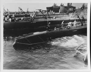 USS Plunger alongside a tender