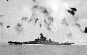 South Dakota during the Battle of Santa Cruz