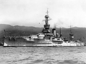 Wyoming in 1935, after her conversion into a training ship