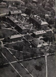 Aerial photograph of Phillips Academy in 1943