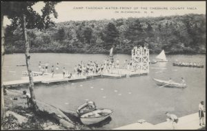 Camp Takodah Waterfront in the early 1940s