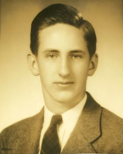 F. Allen Stearns graduation photo from Keene High School, 1943