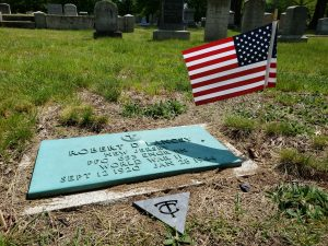 Robert's grave on Memorial Day, 2019