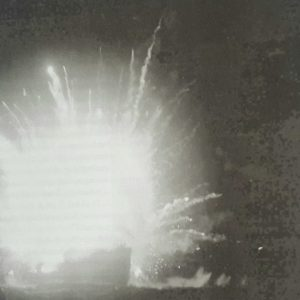 LST 422 explodes after striking a mine