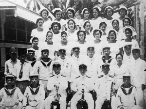 Catalina Taitingfong, top right corner, and the Chamorro Nurses