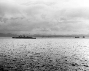 US Navy Task Force approaches Guadalcanal and surrounding islands