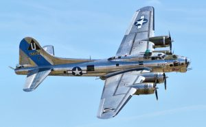 B-17G performing at the 2014 Chino Airshow