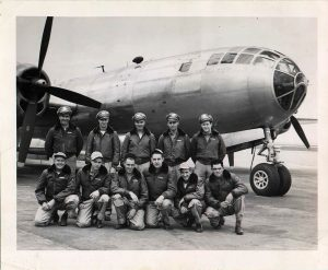 Crew of aircraft #42-94098 with Allen second from right in front row
