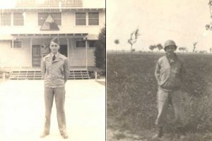 Bob when he joined the 1st Armored Division (left) and just prior to his death in Italy (right)