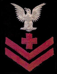 US Navy Pharmacist's Mate second class rank insignia