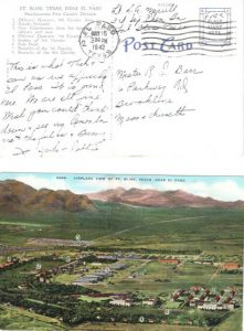 Spike's postcard from Fort Bliss