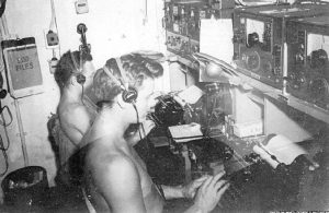 US Navy Radiomen at work in the Pacific during WWII