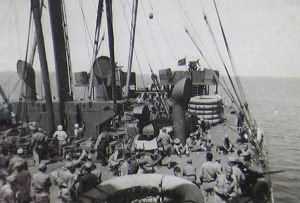 US Army soldiers on the deck of the USAT Argentina