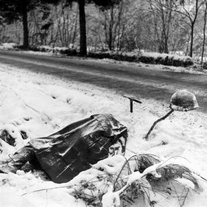 Fallen Yankee Division solider in France, 1944