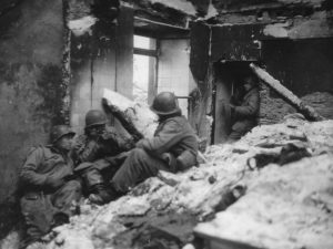 Yankee Division soldiers in France, 1944