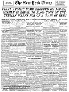 New York Times, 7 August 1945