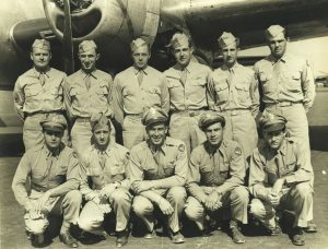 Crew of B-29 #42-94098 with Allen, standing, second from right