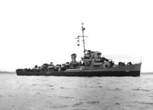 USS Underhill in Boston Harbor