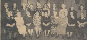 Keene Gold Star Mothers with Alice, standing third from left