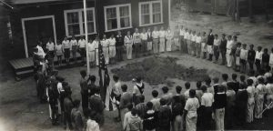 Flag Raising Ceremony, mid-1930s