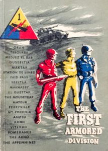 "Cover of ""The First Armored Division"" published in 1945 by the US Army"