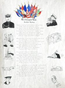 """Destroyer Life"" poem by Berton Braley (cick image to read)"